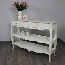in legno crema stile country sala consolle magazzinaggio scaffalatura mobili