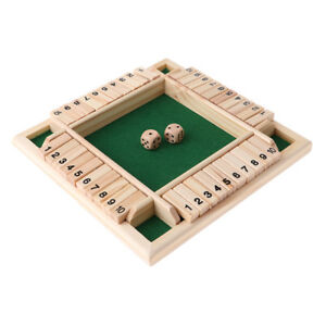 4 Player Shut The Box Drinking Game for Family Party Pub Bar Board Game