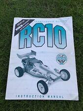 Team Associated Original RC10 Championship Edition Instruction Manual