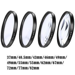 Close-up Filter Kit +1 +2 +4 +10 Macro Filter Accessory Macro Conversion Lens