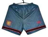 MANCHESTER UNITED 1995/1996 AWAY FOOTBALL SHORTS JERSEY UMBRO SIZE S ADULT