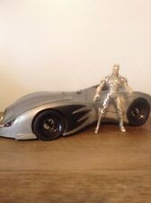 1994 Legends of Batman Batmobile  Kenner W/ Vintage Chrome Batman Action Figure