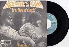 APHRODITE'S CHILD IT'S FIVE O' CLOCK RARE 1970 RECORD YUGOSLAVIA 7' PS