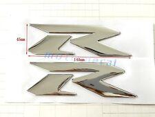 Raised 3D Chrome R Suzuki GSXR1000 GSXR750 600 Emblem Silver Fairing Decal Bling