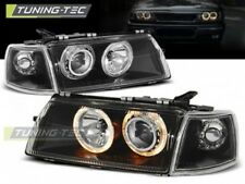 Coppia Fari Fanali Anteriore Tuning OPEL VECTRA A 1988 > 1995 ANGEL EYES Nero