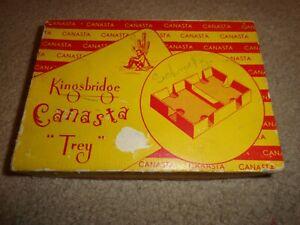 "Vintage 1950's Kingsbridge Canasta ""Trey"" w/ 2 Decks & Instructions / Articles"