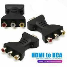 Composite Hdmi to Av Cvbs 3Rca Audio Video Converter Adapter Cable 1080p Hdtv