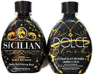 The Sicilian 200X Black Bronzer & DOLCE Black Bronzer Tanning Bed Lotion
