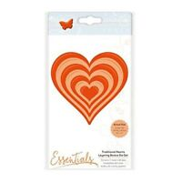 Tonic Studios - A2 Layering Basics - Traditional Heart Die Set - 1459ee