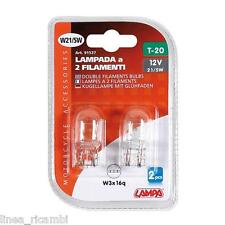 91537  12V Lampada zoccolo vetro - W21/5W - 21W - W3x16q - 2 pz - D/Blister