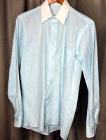 """Vintage CHRISTIAN DIOR """"Plus De Coton"""" L/S Shirt USA Made Men's 15 34/35"""