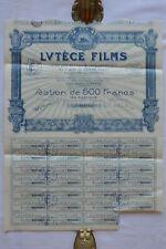 Lutèce films - Action de 500 Francs - 1926 - Notre Dame - Pierre Forveille.