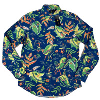 NWT Polo Ralph Lauren  Mens OXFORD Button Down Floral Long Sleeve Shirt Flower