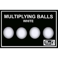 Multiplying Balls (White Plastic) by Mr. Magic