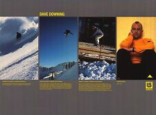 SNOWBOARD POSTER~Dave Downing Original Burton 2 Sided OOP Signed Bio Profile~