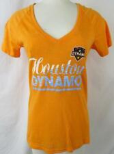 Houston Dynamo Womens Small Medium or Large Screened V-Neck T-shirt HDY 1