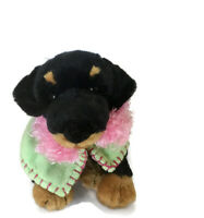 Rottweiler Plush Puppy Dog Stuffed Animal Retired 2002 Golden Bear Collection