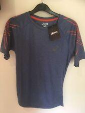 Asics Motion Dry Men's Running Gym T-Shirt BNWT  | Blue | Size S