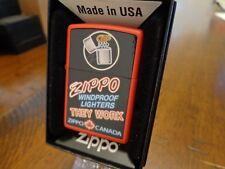 ZIPPO WINDPROOF LIGHTERS THEY WORK ZIPPO CANADA SIGN ZIPPO LIGHTER MINT 2015