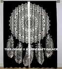 Dream Catcher Feathers Room Curtains Indian Decor Mandala Tab Top Wall Curtain