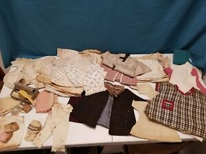 Vintage Pre 1942 Doll Clothing 7 Accessories for Cleaning/Restoration