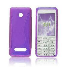 Tough Shockproof Phone Case Gel Cover Slim Soft For Nokia 301 [PURPLE]