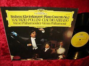 1977 UK NM DG 2530 790 STEREO BRAHMS PIANO CONCERTO 2 POLLINI ABBADO