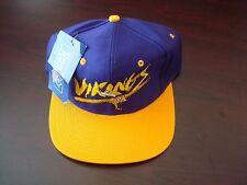 MINNESOTA VIKINGS AJD SPLASH AJD  SCRIPT NEW VINTAGE 90'S HAT CAP  SNAPBACK