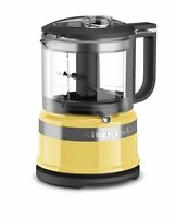 KitchenAid KFC3516MY 3.5 Cup Mini Food Processor, Majestic Yellow