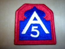 WWII US Army Fifth Army patch cut edge
