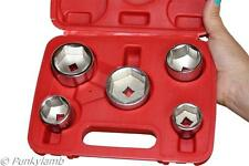 "Oil Filter Socket Set Removal Tool 3/8"" Drive 24, 27, 32, 36, 38mm Low Profile"