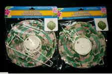 """2 pack@ 8"""" -2 @ Tropical Design colors LED Round Battery Operated Paper Lanterns"""