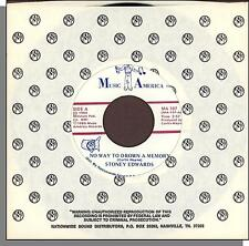 "Stoney Edwards - No Way To Drown a Memory + Reverend Leroy- 7"" 45 RPM Single!"