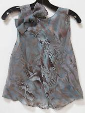 NWT $1295 Giorgio Armani Green Silk Floral Sleeveless Blouse sz 44/10 FS