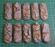 70mm Slate Bike bases X5 wargames Sci-fi scenery Slate by Daemonscape