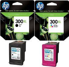 2x HP 300 XL ORIGINAL TINTE PATRONEN DESKJET D1660 D2560 D2660 D5560 F2420 F2480