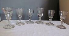 Antique Wine Glass Lot 6 Glasses