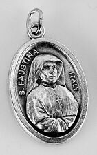 LOOK Saint Faustina Divine Pray Mercy Jesus Christ Sterling Silver 925 Charm Jew