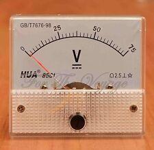 0 - 75V DC Voltmetro ANALOGICO PANNELLO VOLTMETRO Analogico Nuovo