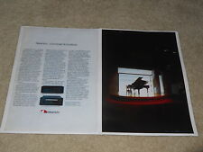 Nakamichi 1983 DRAGON, TD-1200 Mobile Deck Ad, 2 pages, Articles, Rare+Beauitful