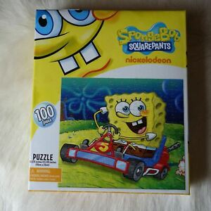 SPONGEBOB SQUAREPANTS PUZZLE Go Cart Puzzle 100 Pieces Kids Sponge Bob Puzzle
