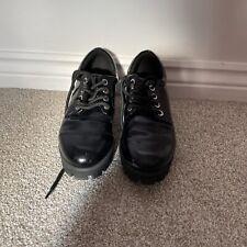 black patent Platform shoes size 4