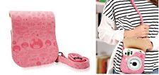 Leather Camera Case Bag For Fuji Fujifilm Instax Mini25 fashion Pink