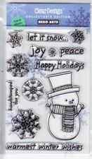 WARMEST WINTER WISHES - Hero Arts Poly Clear Stamp Set