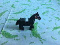 vintage Lego Horse - Black (re1)