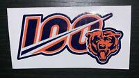 CHICAGO BEARS 100TH ANNIVERSARY DECAL VINYL STICKER NFL FOOTBALL 1919 - 2019