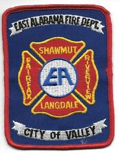 "Valley - Fairfax / Shawmut / Langdale, Alabama  (3"" x 4"" size) fire patch"