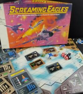 Milton Bradley Screaming Eagles Air Assault Board Game 100% Complete