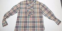 Ralph Lauren Women's Long Sleeve Ruffle Shirt,Size 10,Multicolor
