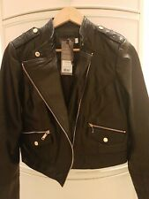 Brand new Ladies Mint Velvet Size12 Leather Jacket NEW TAGS RRP £279.00 . Boxed.